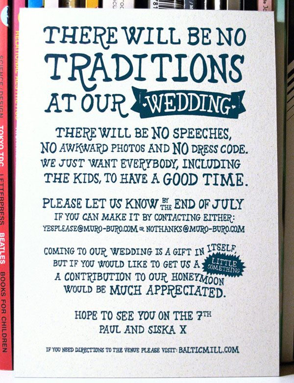 Yea Or No Emails Casual Wedding Invite Aar Mcleod