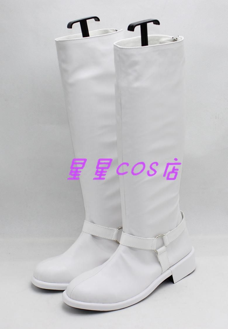 Persona 5 Kitagawa Yuusuke White Halloween Cosplay Shoes Boots X002 ...
