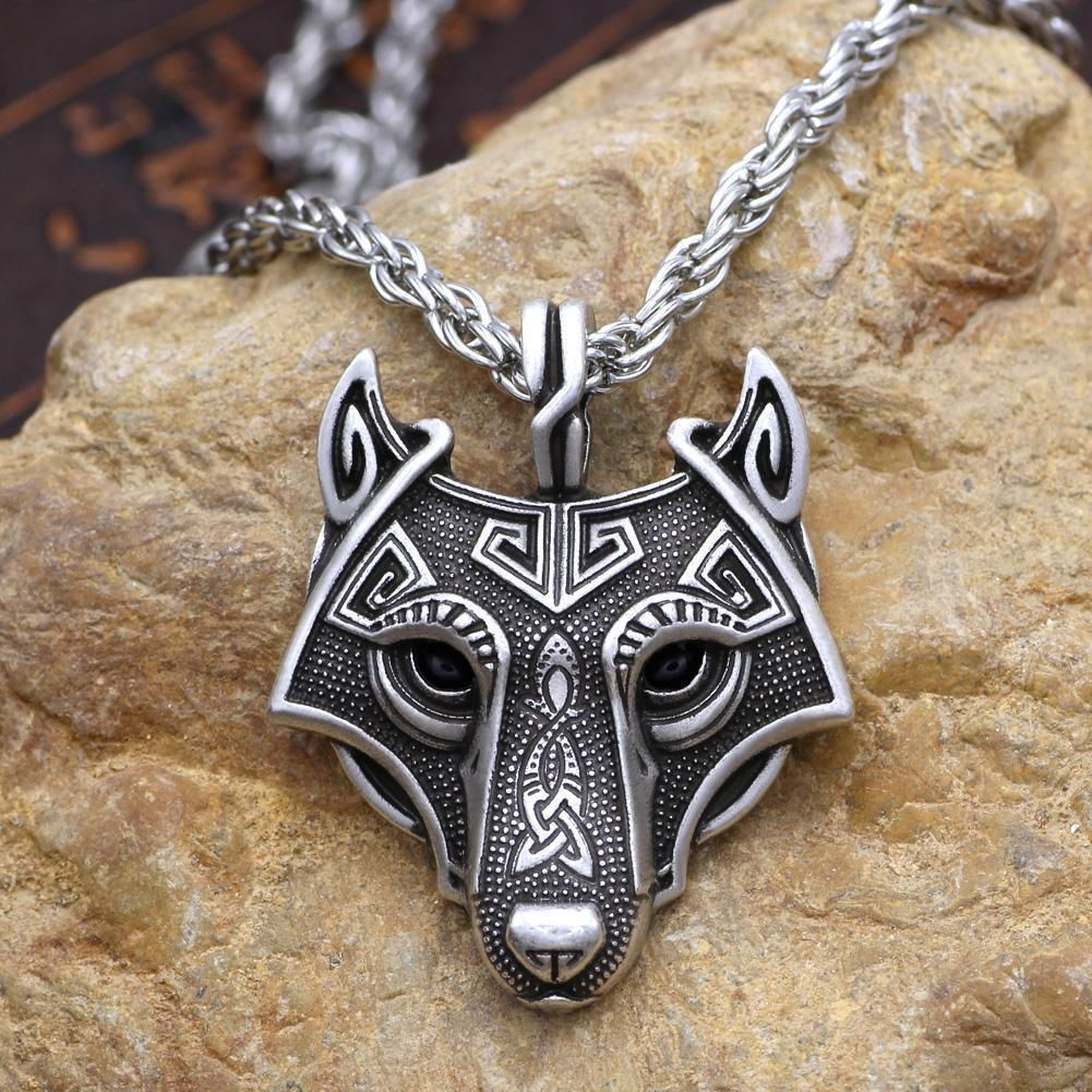 Punk Rock New Store Hight Quality 4 Fox Heads Pendant Necklace Cool Animal Chain Jewelry for Man Price