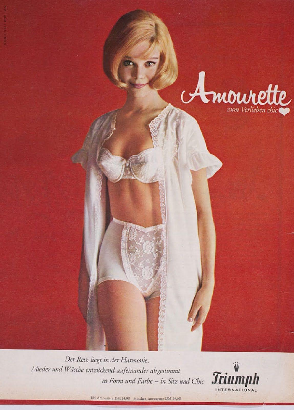 Vintage lingerie adverts
