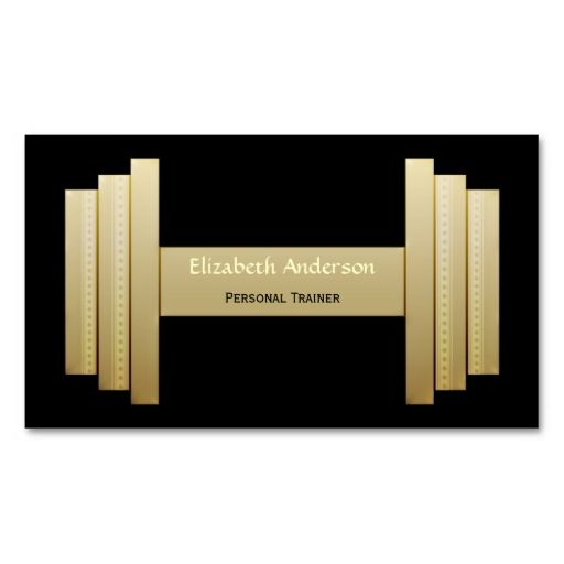 Modern black and gold personal trainer business card card modern black and gold personal trainer business card accmission Gallery