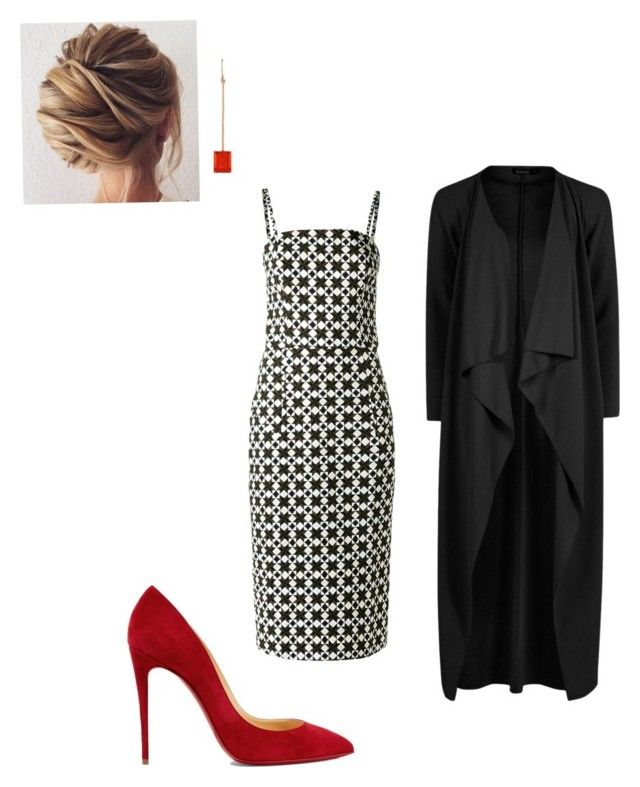 """""""Evening"""" by cgraham1 on Polyvore featuring Andrea Marques, Christian Louboutin, Irene Neuwirth and Boohoo"""