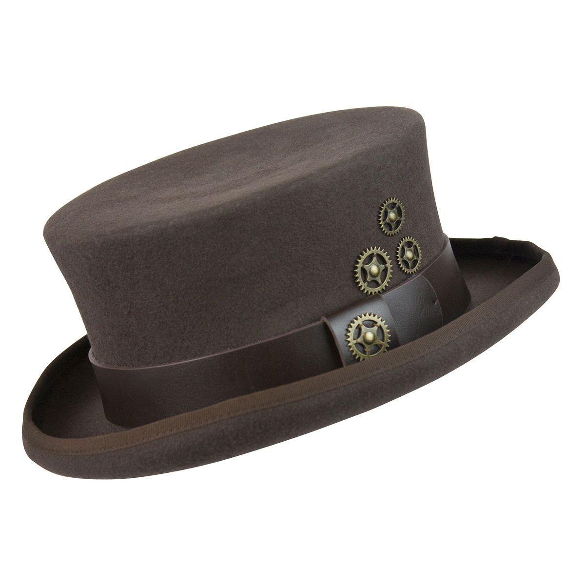 f80fa84d0a72 Time Travel Steampunk Top Hat | Steampunk Hats | Steampunk top hat ...