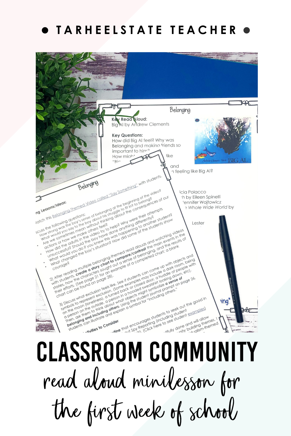Creating A Sense Of Belonging Setting The Foundation For An Inclusive Classroom Community Tarheelstate Teacher In 2020 Classroom Community Inclusion Classroom School Lesson Plans