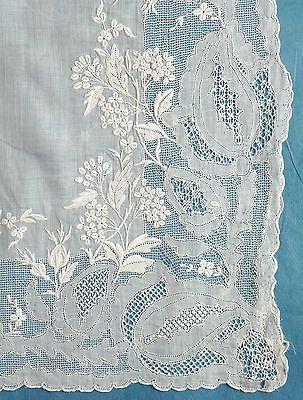 Antique-vintage-finest-lawn-whitework-Dresden-work-handkerchief