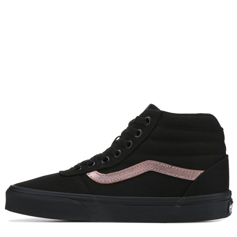adbb5adff76593 Vans Women s Ward High Top Sneakers (Black Rosegold) High Top Sneakers