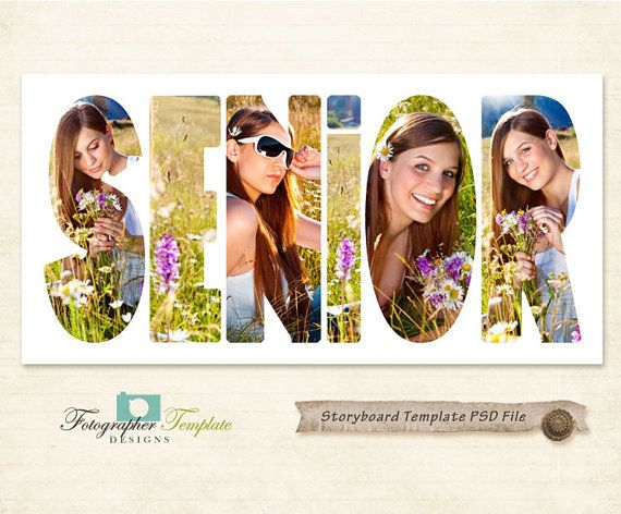 Senior Photography Storyboard Templates 10X20 Alphabet Psd