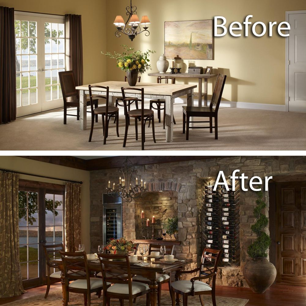Eldorado Stone Veneerthe Perfect Pairing The Vinowall Presents Captivating Eldorado Dining Room Design Decoration