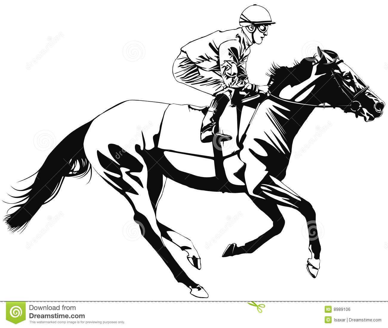 Race horse clipart - ClipartFest