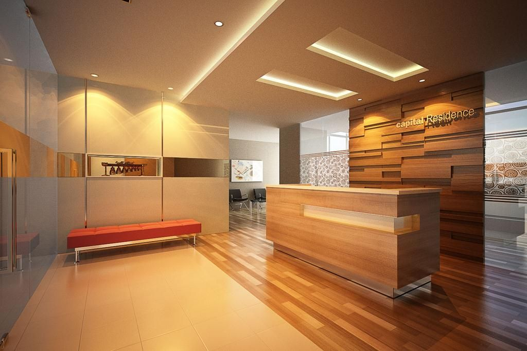 Modern Office Lobby Design with Architectural and Unique Office ...