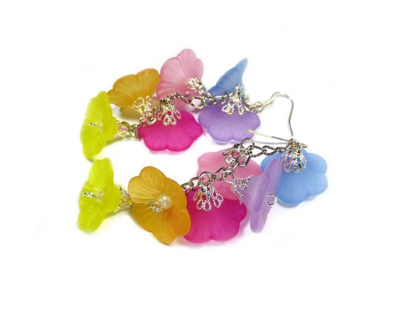 Bloem oorbellen | Beads Creations Kralen en Sieraden www.beadscreations.nl