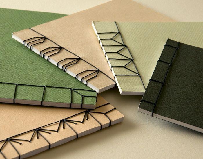 brosch re japanische bindung verschiedene stichmuster binding buch binden buchbinderei. Black Bedroom Furniture Sets. Home Design Ideas