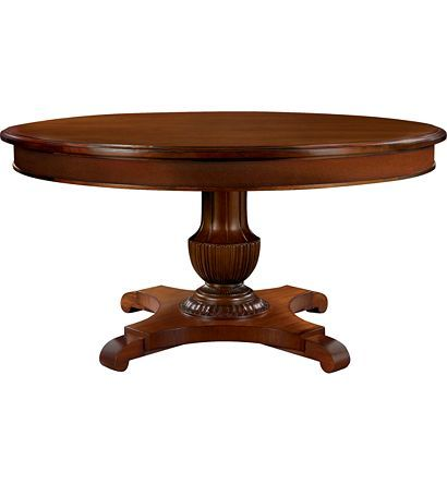 Gustav Round Dining Table Plain Veneer Apron From The Alexa Entrancing Hickory Dining Room Chairs 2018