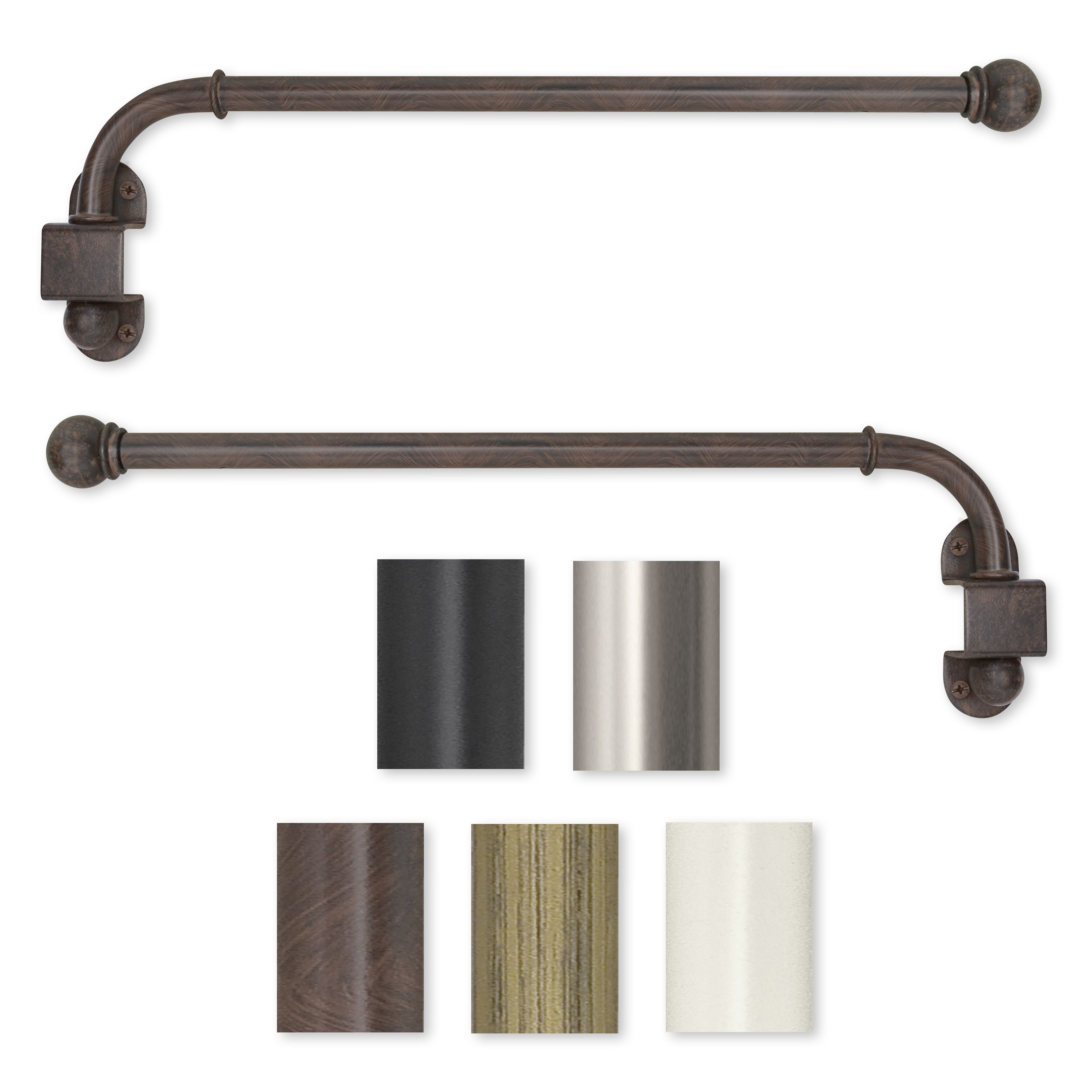 Swing Arm 24 To 38 Inch Adjustable Curtain Rod 38 Swing Arm