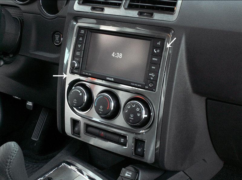 2008 2014 challenger 5 7 and srt 8 brushed dash trim plate - 2008 dodge charger interior trim ...