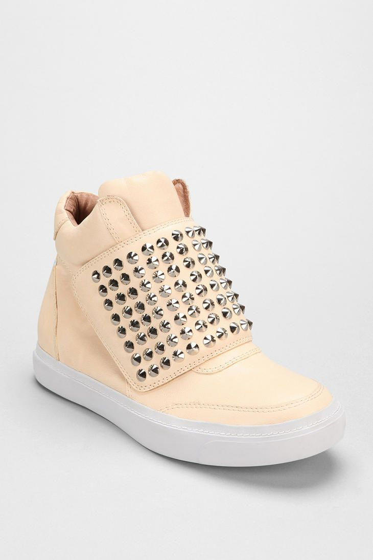 Jeffrey Campbell The Damned Leather Prism Mid-Top Sneaker