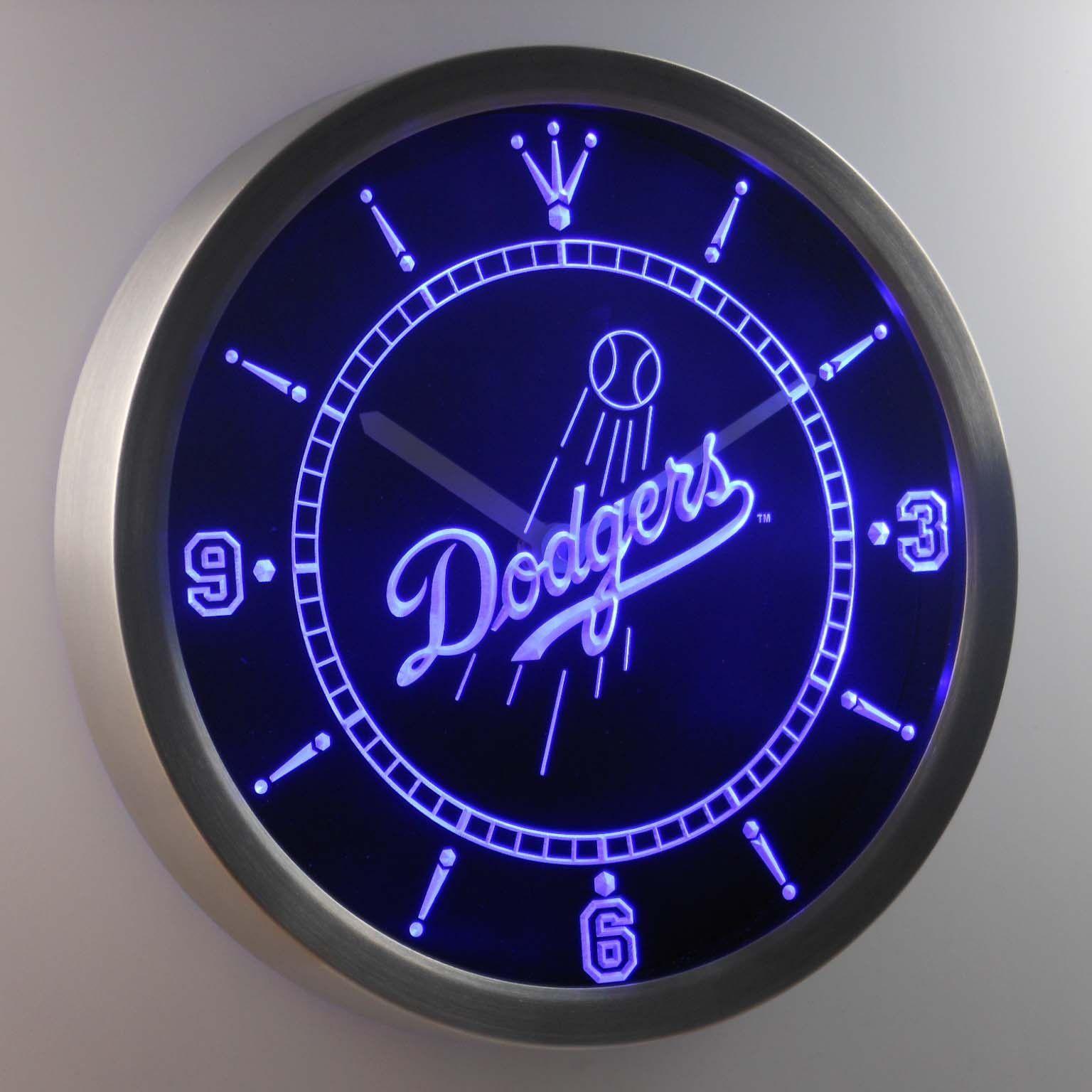 Los Angeles Dodgers LED Neon Wall Clock Led wall clock
