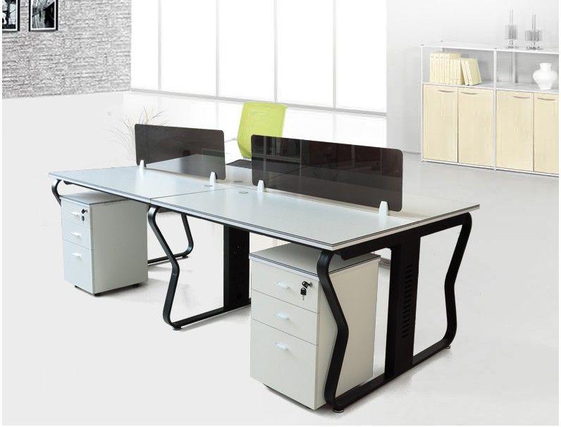 2016 Low Price Office Furniture Hardware 4 Person Modular Glass ...