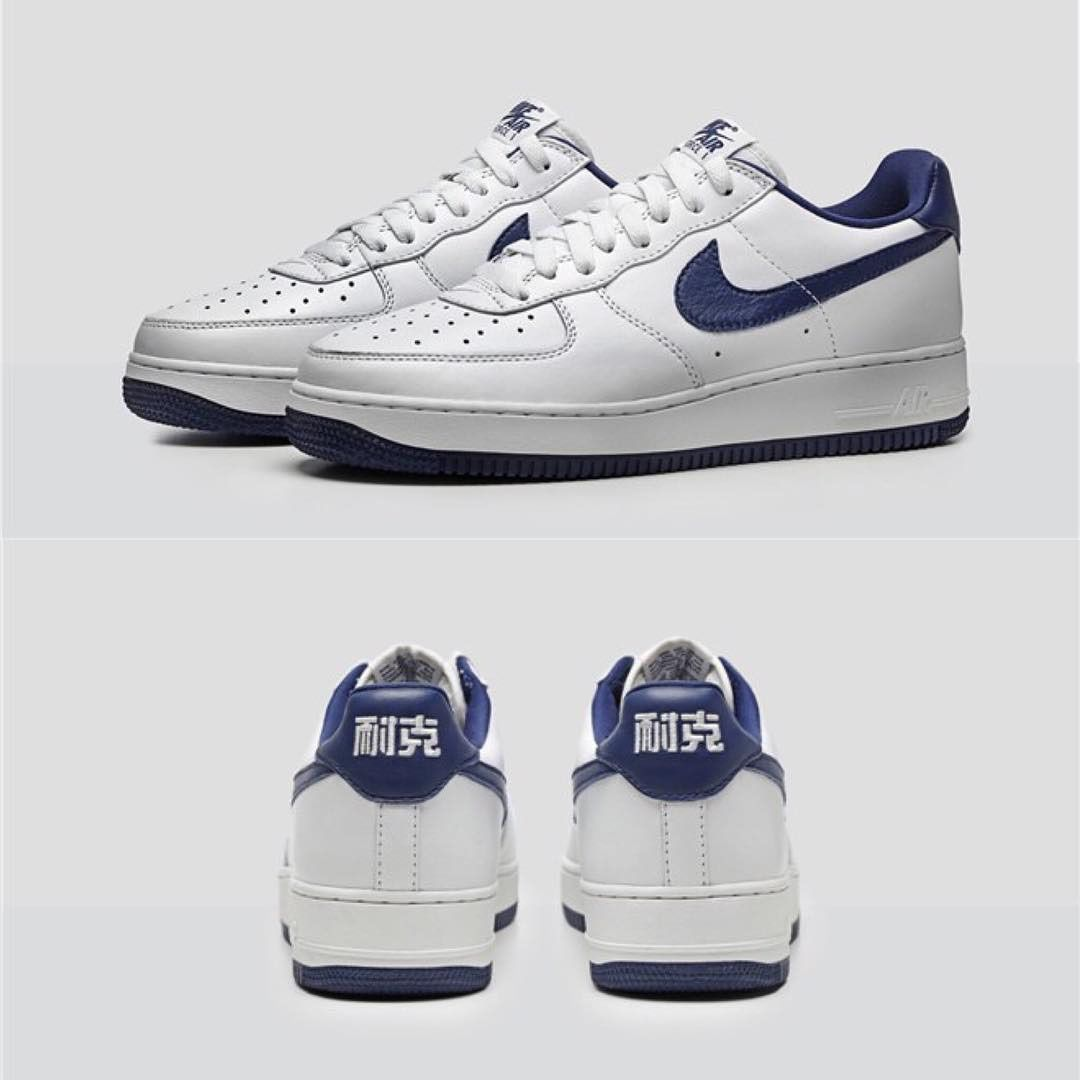 hot sale online 1a344 6939b amazon preview nike air force 1 low nai ke white dark blue eu kicks sneaker  magazine