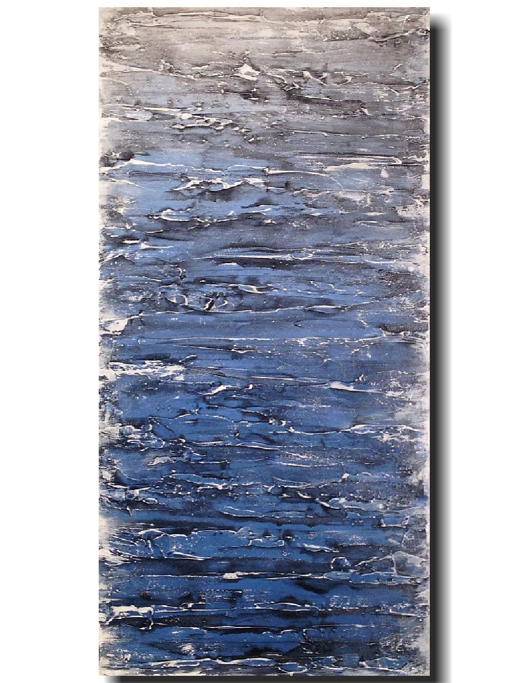 Excited to share the latest addition to my etsy shop canvas art for sale industrial acrylic painting blue wall decor new york art