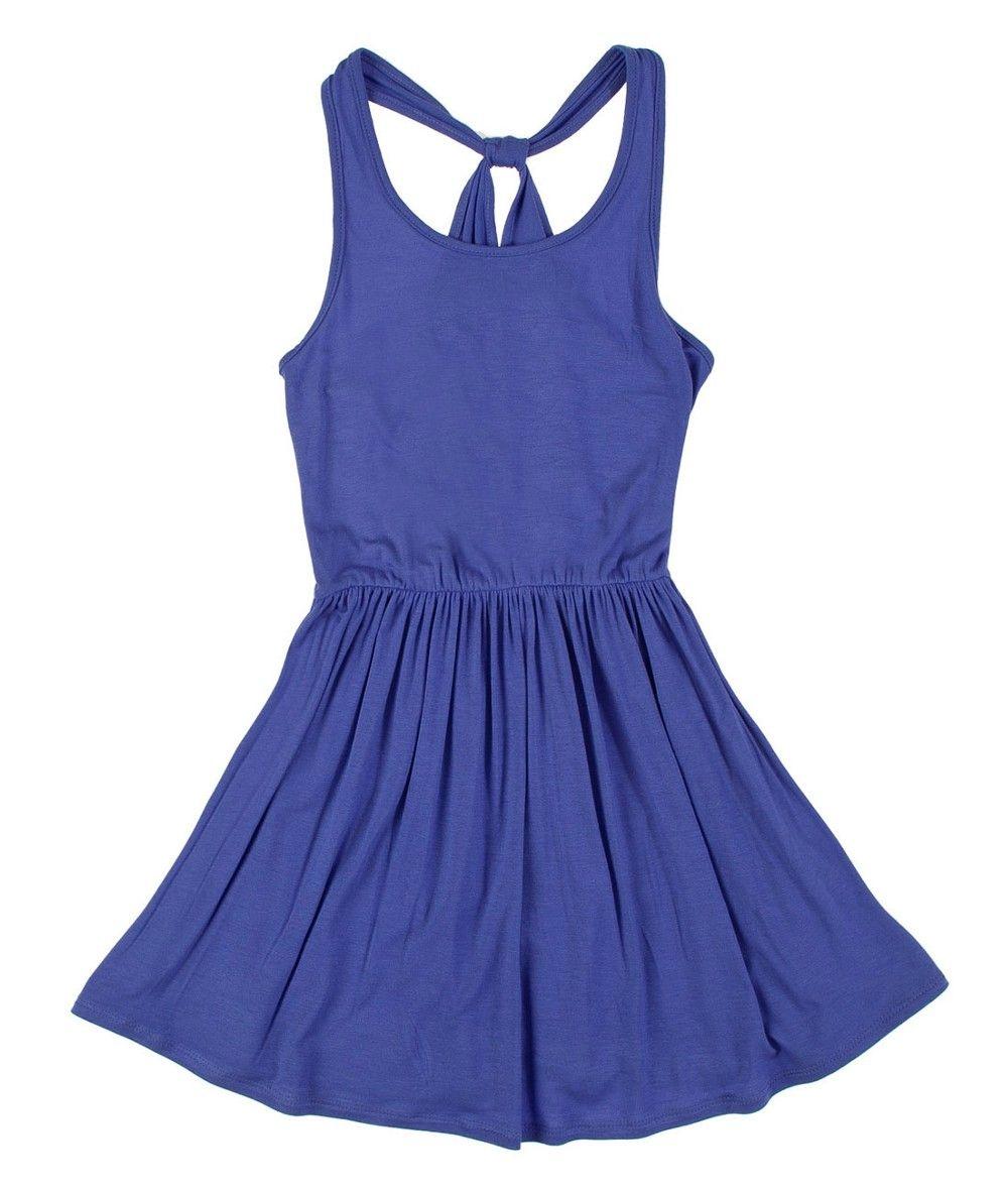 Vestido en tejido de punto para niñapra en la tienda On Line de OFFCORSS - OFFCORSS