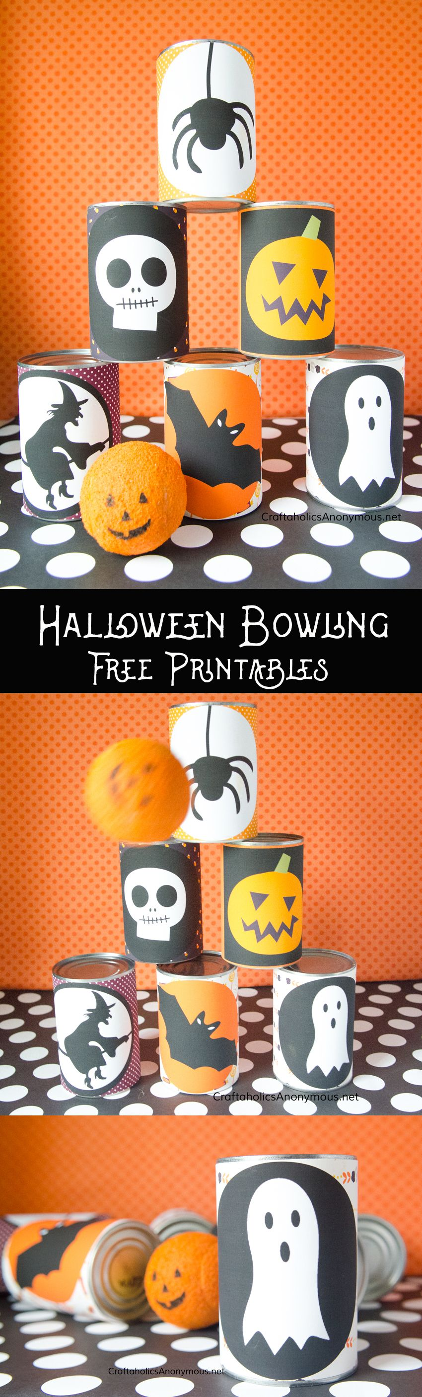 DIY Halloween Bowling Game with Free Printables | Game ideas, DIY ...