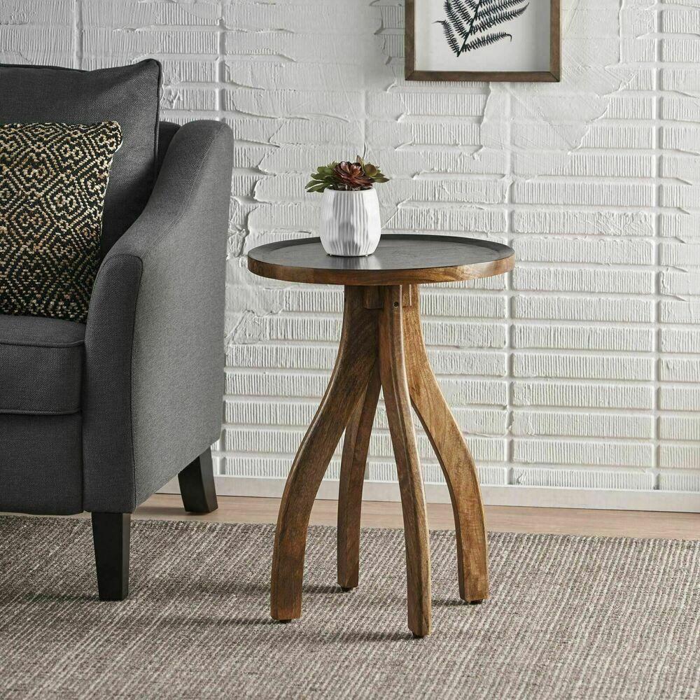 Adaiyah Boho Mango Wood End Table Ebay In 2021 Wood End Tables Furniture Table [ 1000 x 1000 Pixel ]