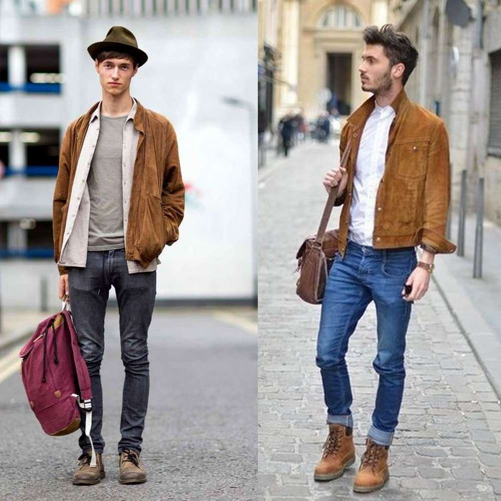 Suede Jacket Outfits For Men 20 Ways To Wear A Suede Jacket Mens Fashion Denim Mens Fashion Jeans Suede Jacket Outfit