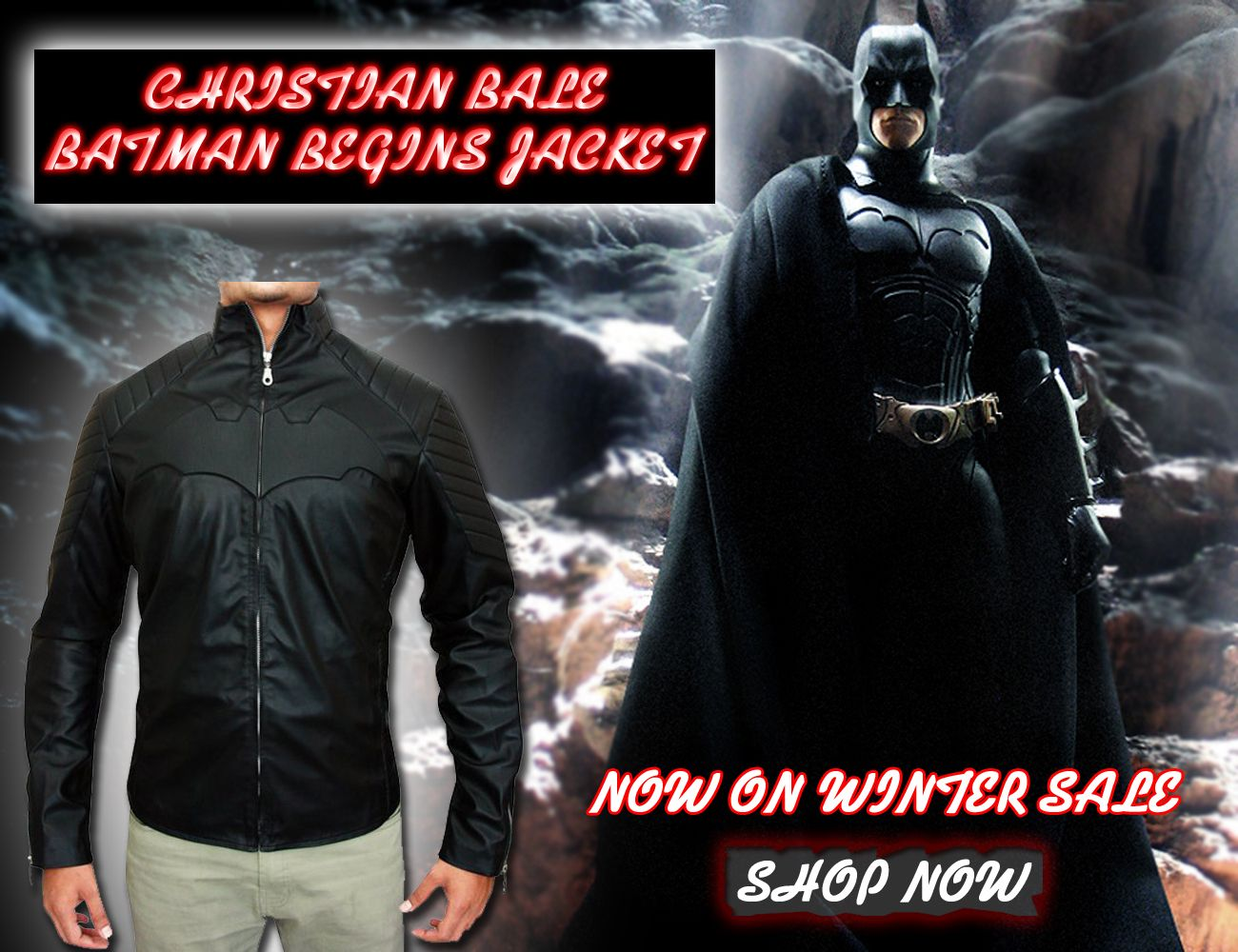 The admirable Batman Begins Christian Bale Jacket is available in our online store, made of genuine and durable quality of real leather, is available for only $190 at Bonton Wear. Save up to 40% on the purchasing of every costume from our winter sale collection. This jacket is great for clubs, parties, Cosplay and in winter season. Hurry up! Buy it now  Please Visit: http://www.amazon.com/BontonWear-Batman-Begins-Christian-Jacket/dp/B00N3PSY20