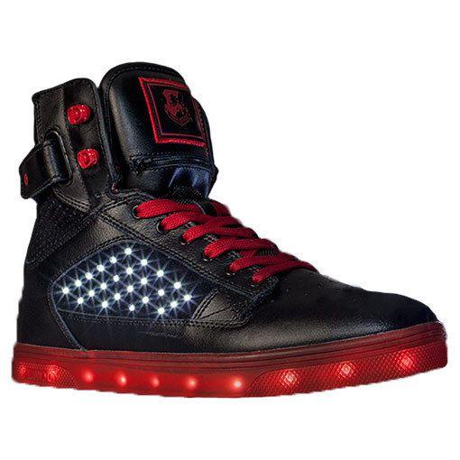 Men\u0027s Vlado Atlas LED Light Up Shoes High Top Sneakers Red Black Size 10  #LEDShoes