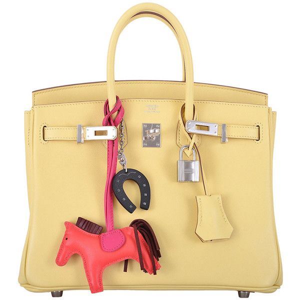 bd75b9bf997 Preowned Hermes Birkin Bag 25cm Jaune Poussin Phw Janefinds (71.080 BRL) ❤  liked on Polyvore featuring bags