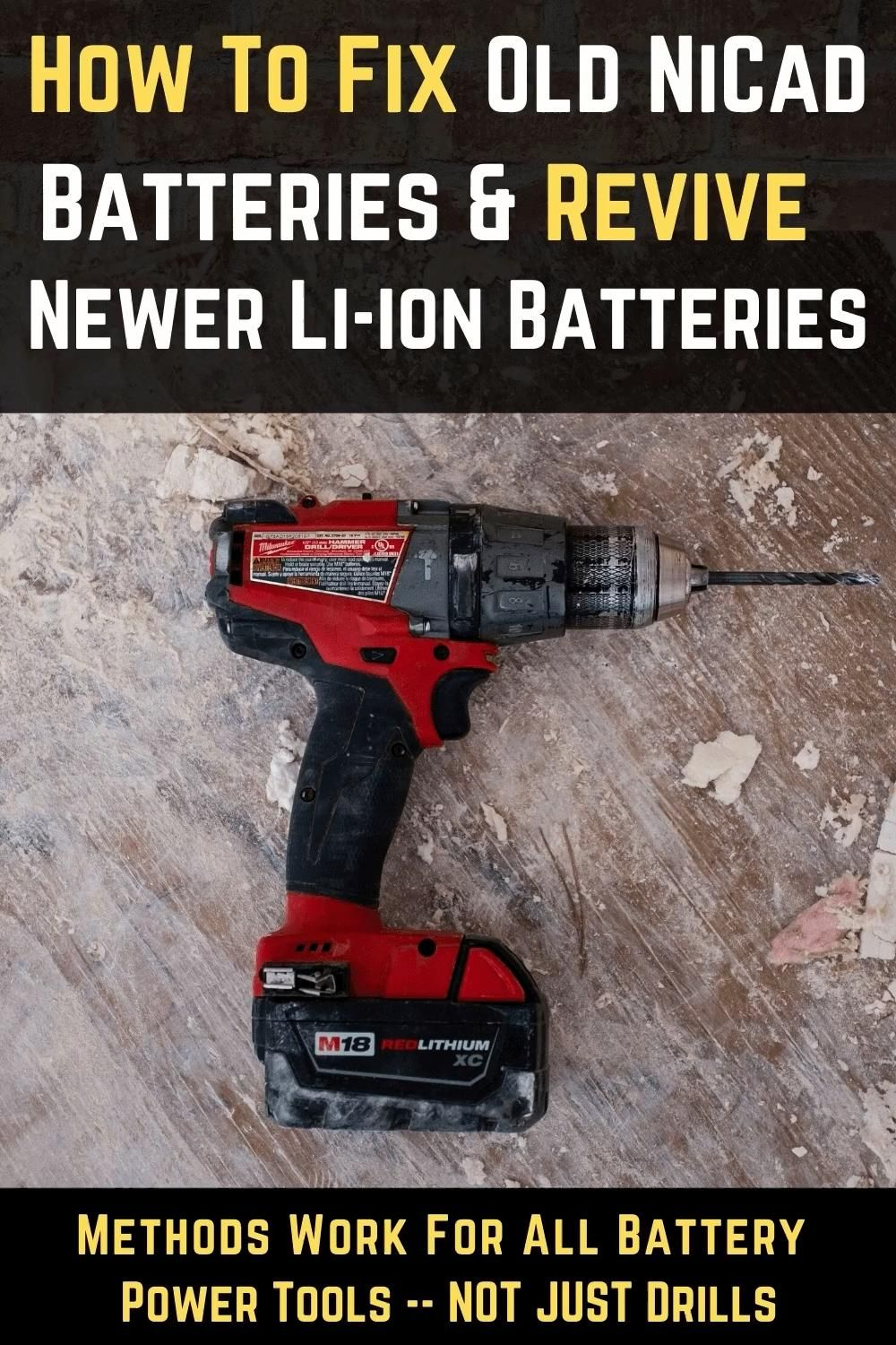 Ez Battery Reconditioning Pdf Diy Battery Reconditioning Methods At Home Cars Course Repair Video Power Tool Batteries Battery Repair Cordless Drill Batteries