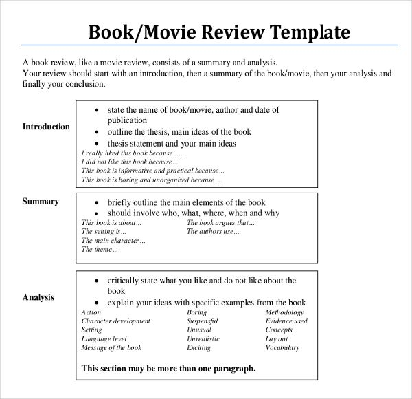 Book Review Sample College Writing The Example How To Write A
