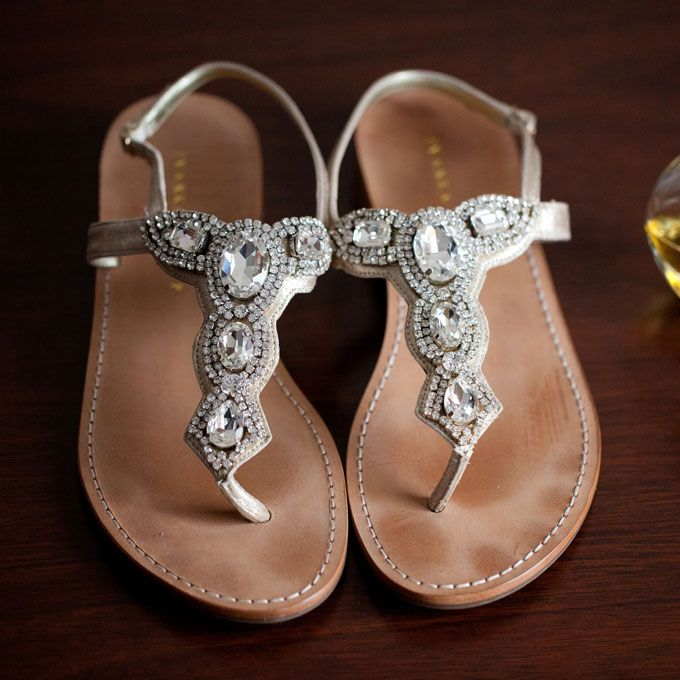 For A More Formal Beach Wedding Find Sandals With Some Seriously Eye Catching Bling After All Blinger Is Better See Glamorous Accessories