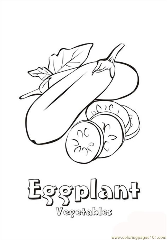 Vegetable Coloring Pages Coloring Pages Eggplant Natural World