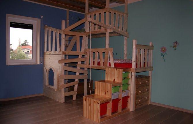 Bildergebnis Fur Spielbett Selber Bauen Bett Kinderzimmer Kinder Zimmer Abenteuerbett