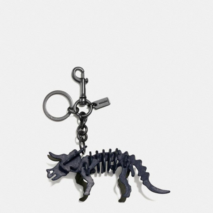 Coach 1941 Triceratops Keychain in Black dZfvB