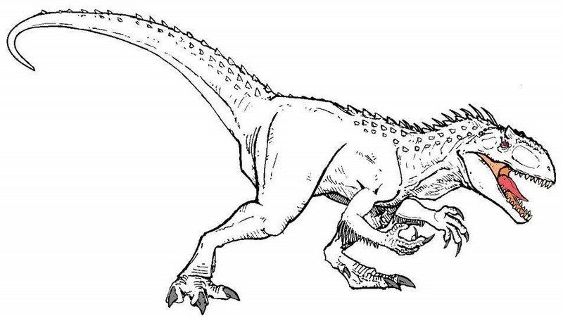 High Detailed Indominus Rex Coloring Sheet Dinosaur Coloring Pages Dinosaur Coloring Indominus Rex