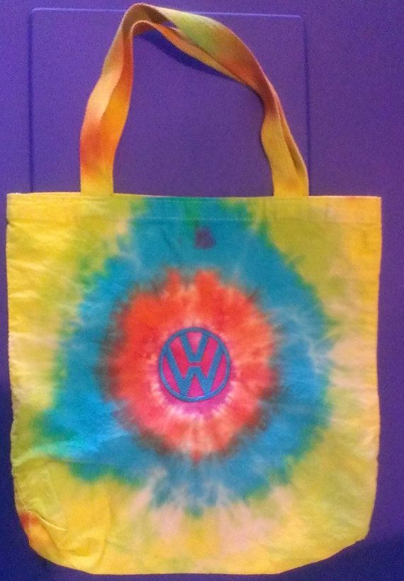 Hand Tiedyed tote bag with embroidered by AtMyBarnEmbroidery, $12.99