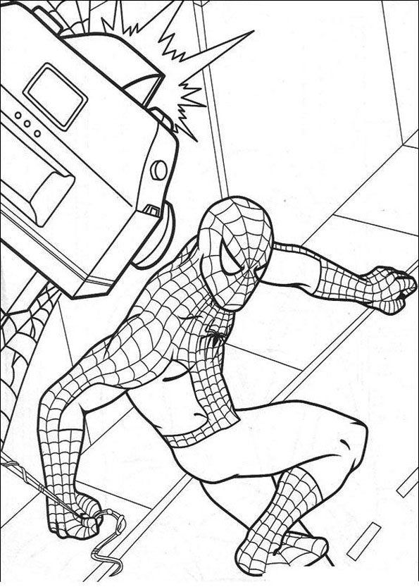Coloriage Spiderman 5 Coloring Pages Spiderman Coloring