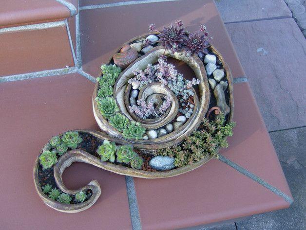 Diese Schale Sieht Sehr Schön In Einem Steingarten Oder Einem Hauseingang  Aus. Mann Kann Sie
