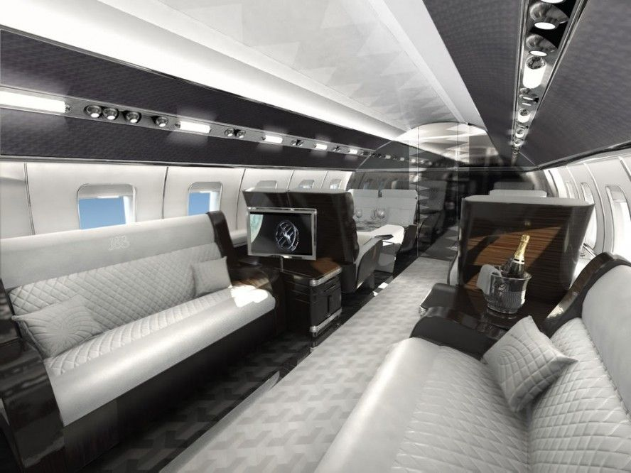 Elegant Private Jet Interior Design Is Designed Using The Amazing Idea Fancy Elegant Private Jet Interior Interieur Du Jet Prive Jet Prive Jets Prives De Luxe