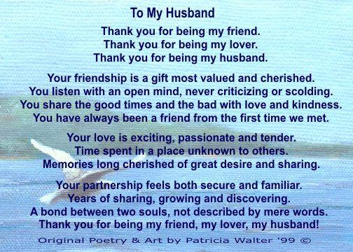 i love you babe!!   Happy anniversary to my husband, Love