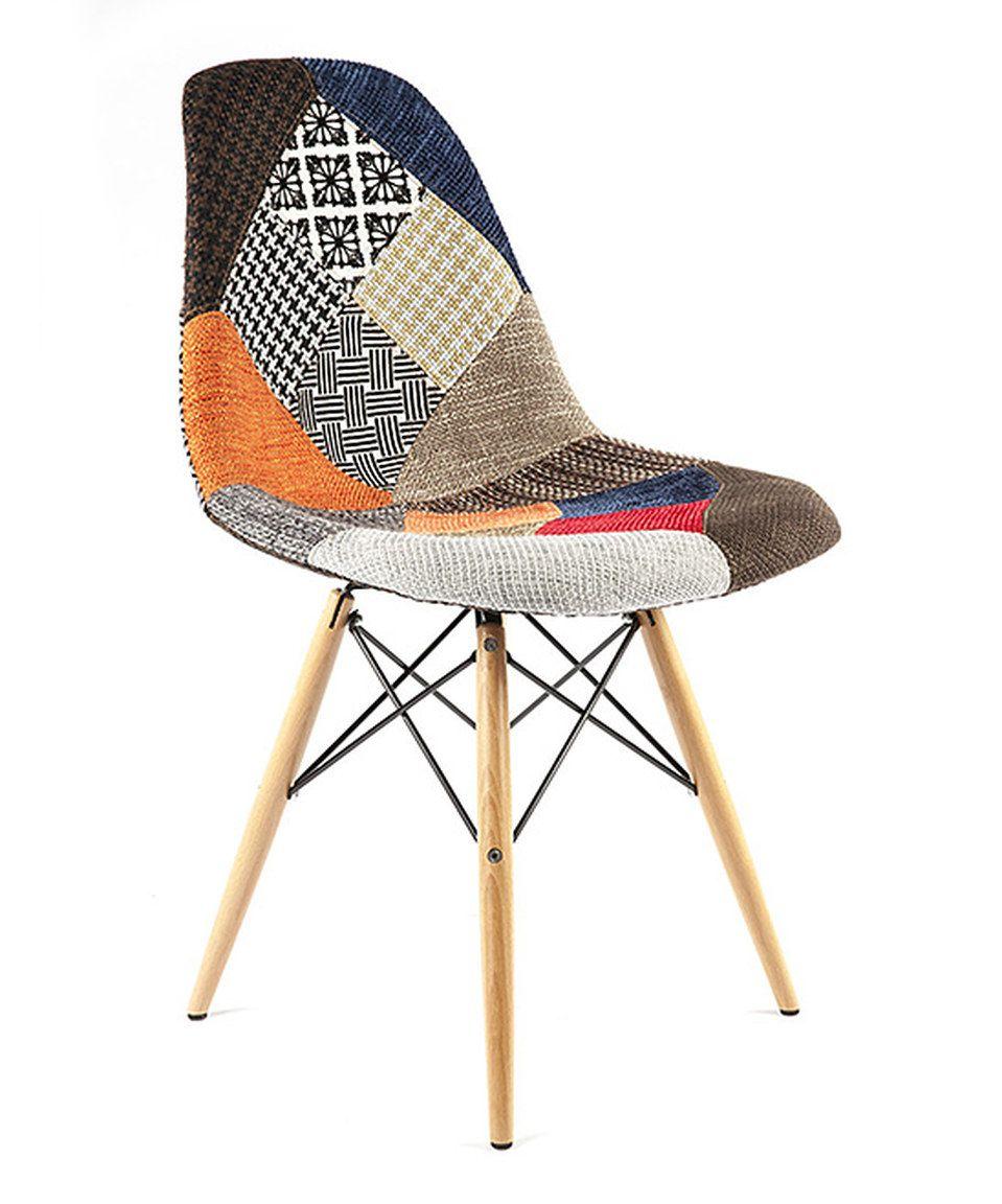 Look what I found on #zulily! Orange & Brown Patchwork Vintage Side Chair by Control Brand #zulilyfinds