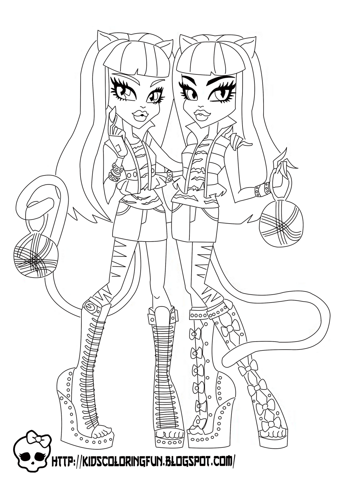 Baby Monster High Coloring Pages Monster High Purrsephone and