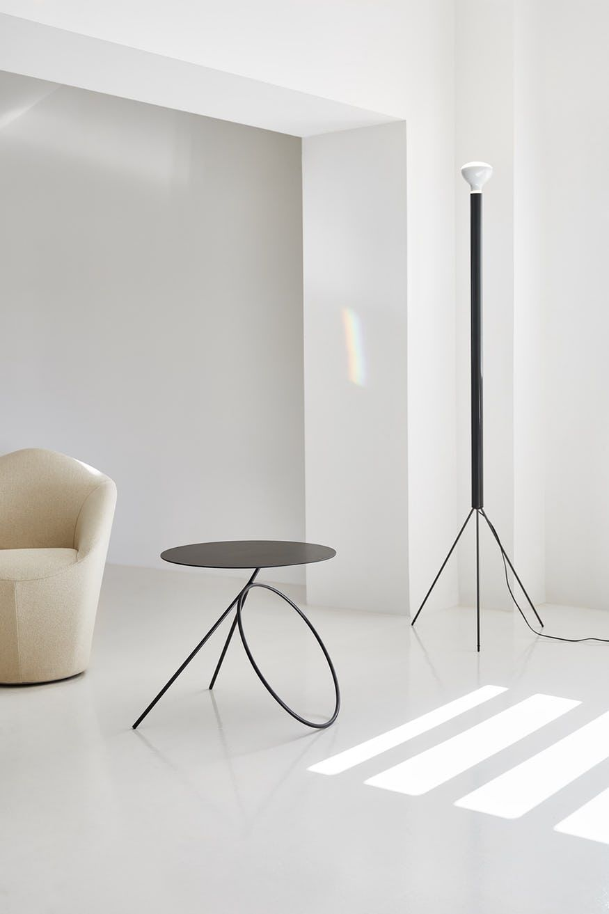 Bamba Side Table By Viccarbe Metal Furniture Design Round Metal Table Round Metal Coffee Table