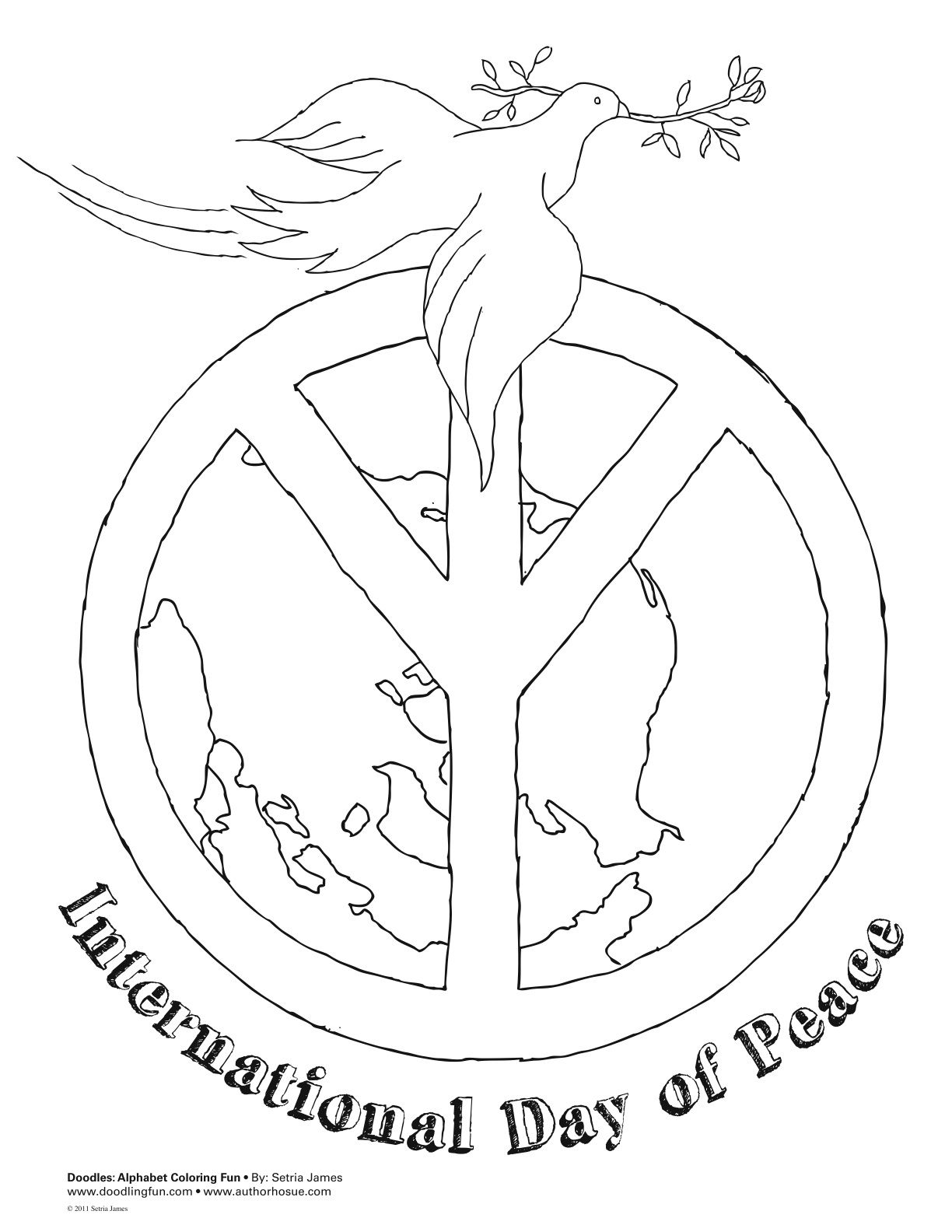 international peace day coloring page