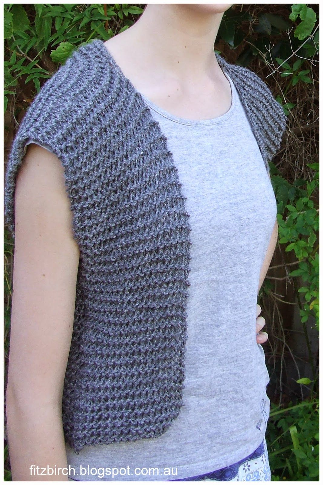 FitzBirch Crafts: Garter Stitch Beginner Vest | Crafts & such ...