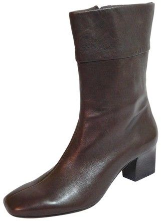 2cbdd1f32e6 Antonio Melani Brown New Mod Leather Ankle Boots Booties Size US 6.5  Regular (M