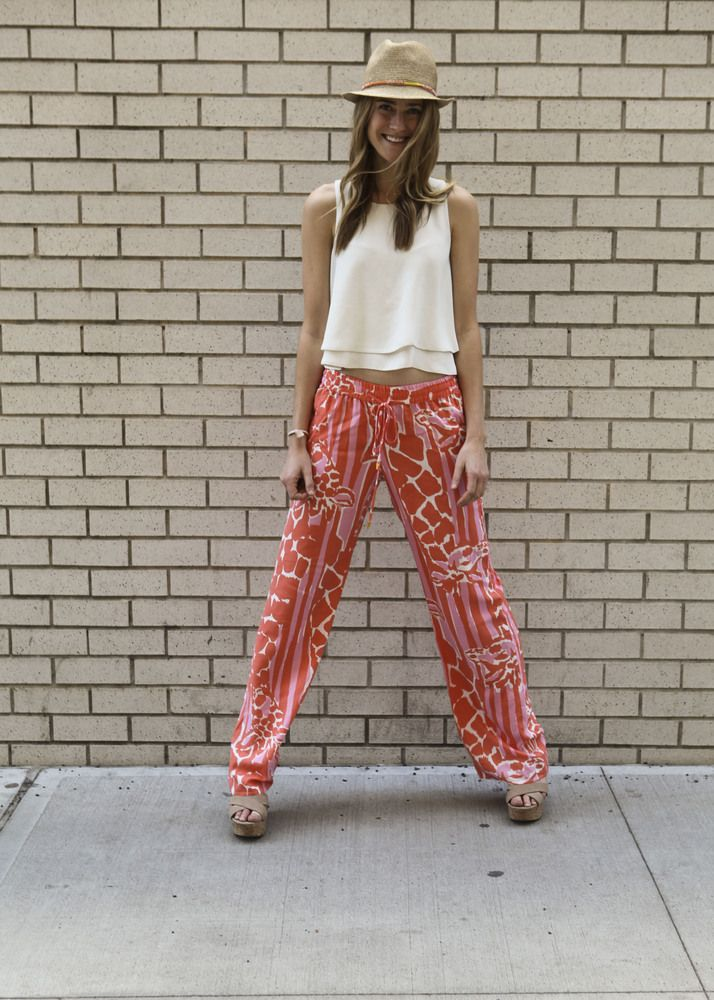 Lilly Pulitzer for Target is cute as can be! Pair these colorful Lilly pants with a plain white top for a stylish summer look